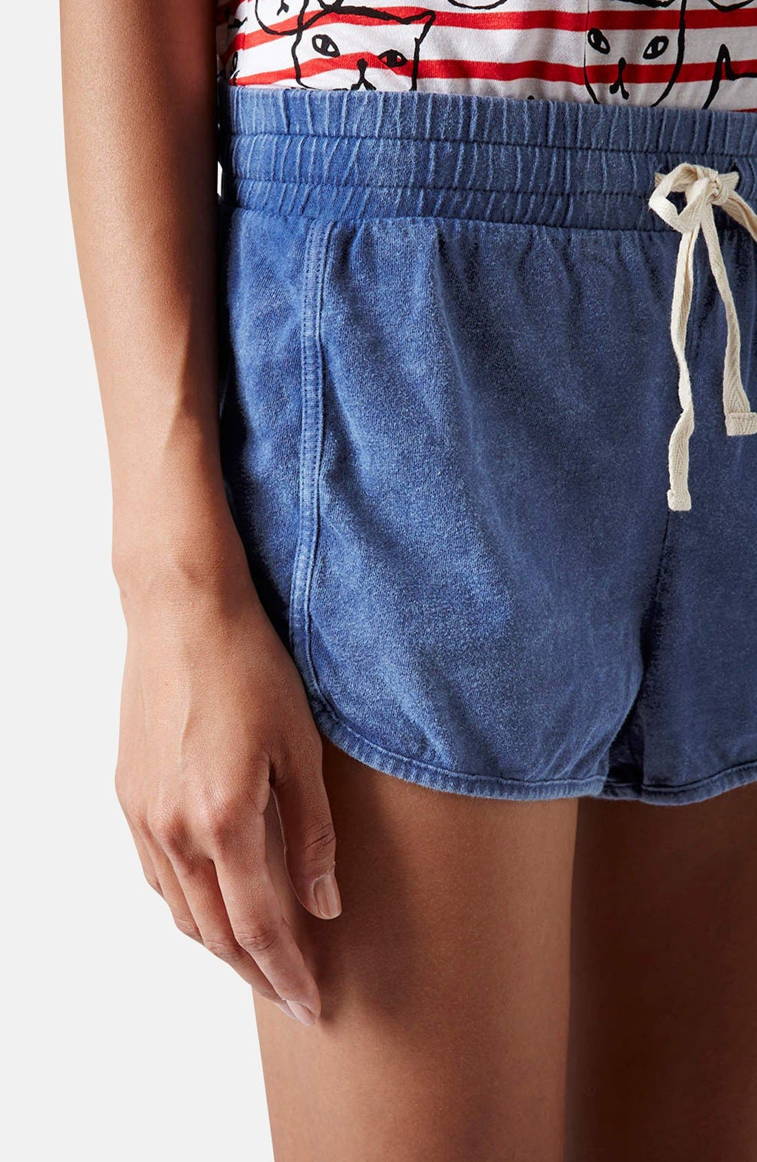 Alternate Image 4  - Topshop Chambray Dolphin Shorts