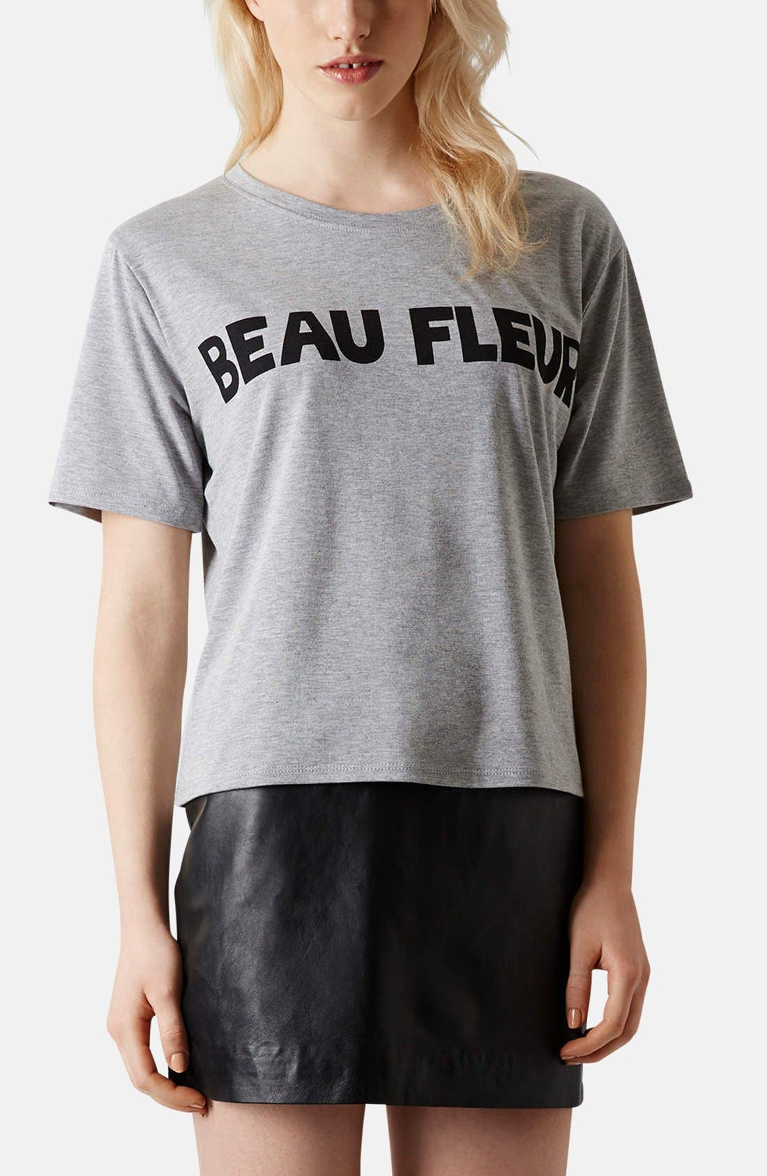 Main Image - Topshop 'Beau Fleur' Graphic Tee