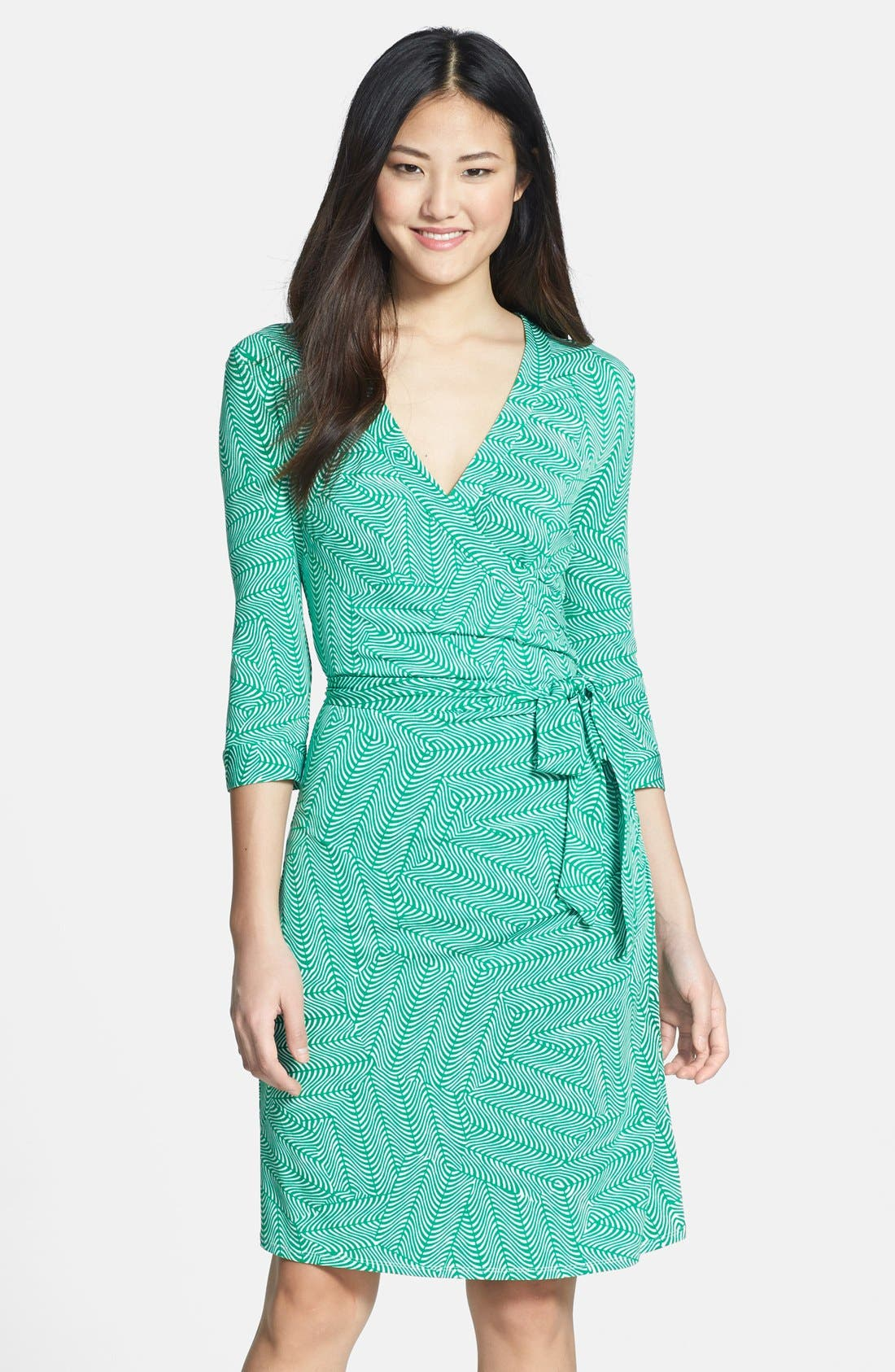 Main Image - Laundry by Shelli Segal Print Jersey Faux Wrap Dress
