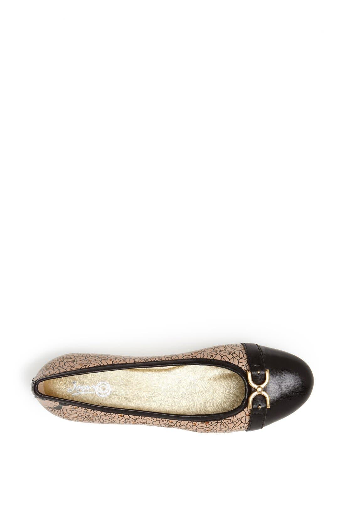 Alternate Image 3  - Icon Footwear Cap Toe Ballet Flat