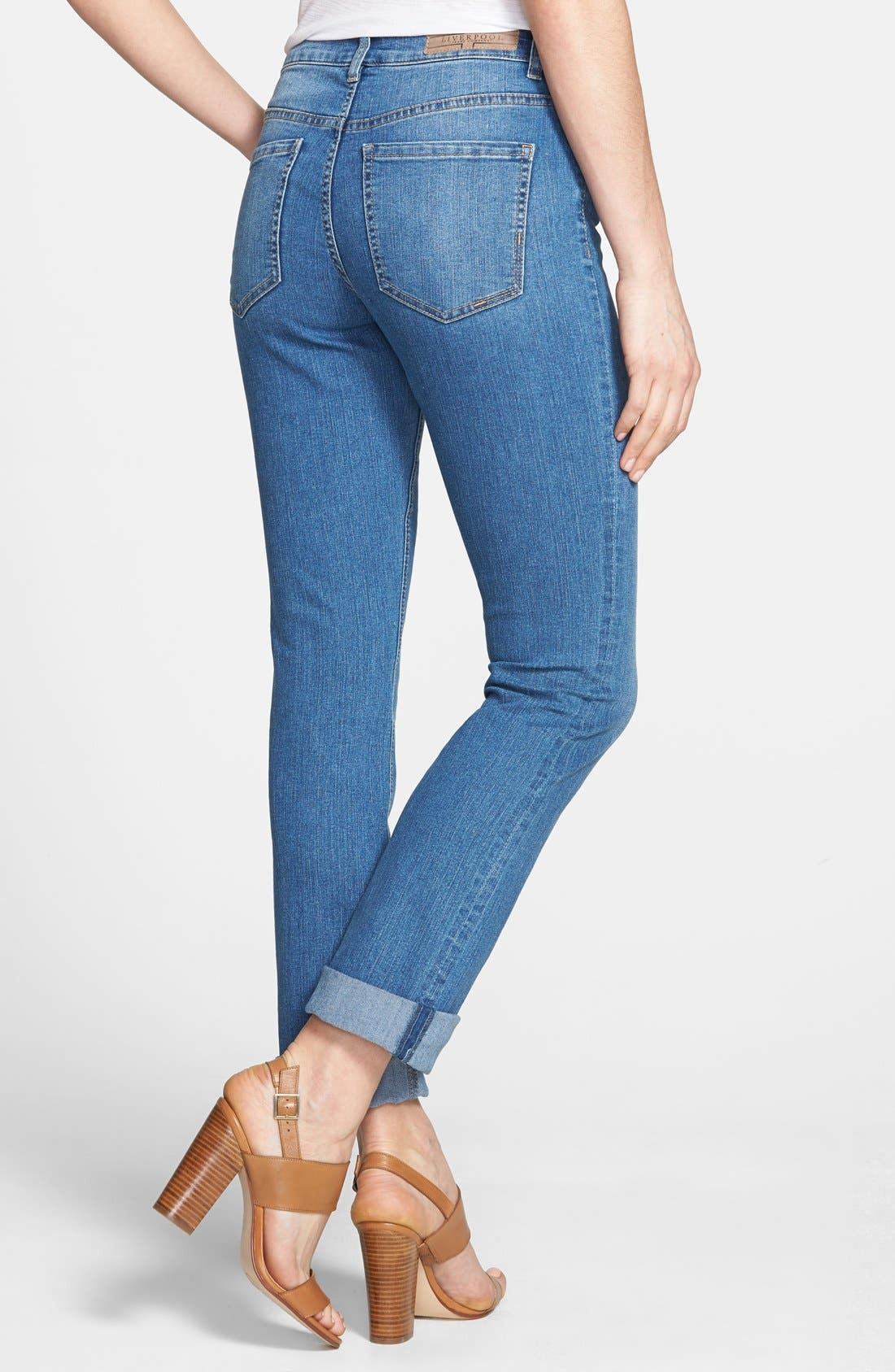 Alternate Image 2  - Liverpool Jeans Company 'Sadie' Straight Leg Stretch Jeans