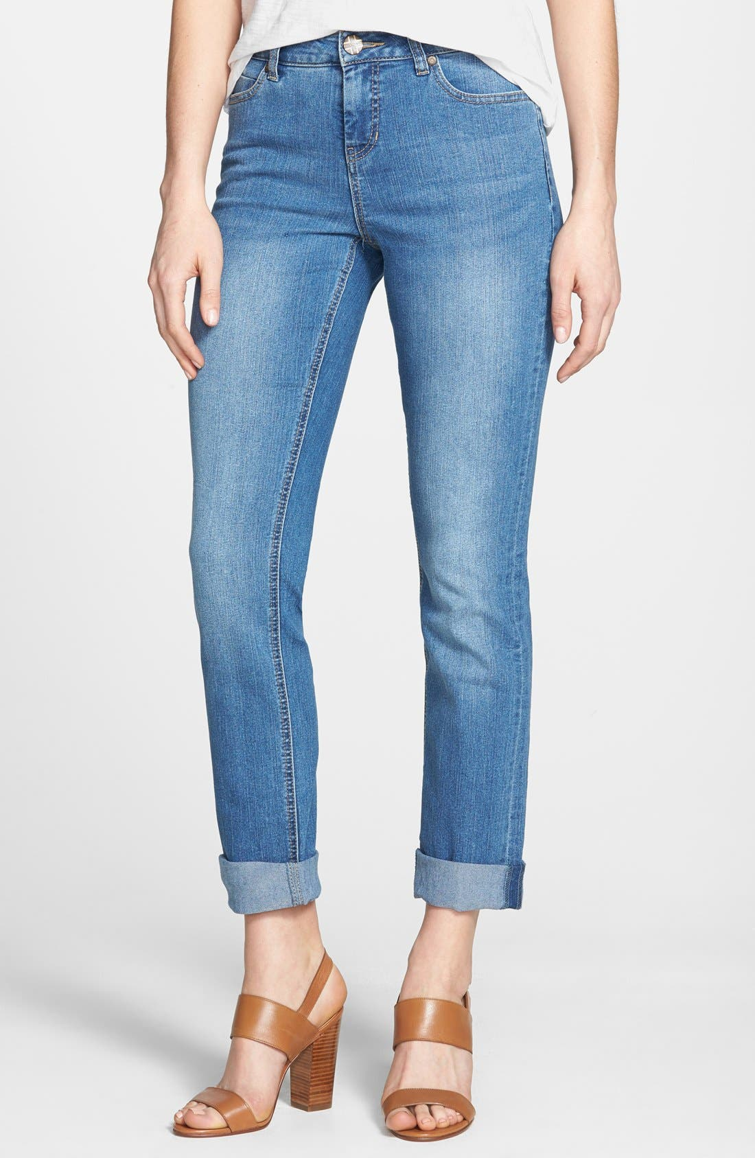 Alternate Image 1 Selected - Liverpool Jeans Company 'Sadie' Straight Leg Stretch Jeans