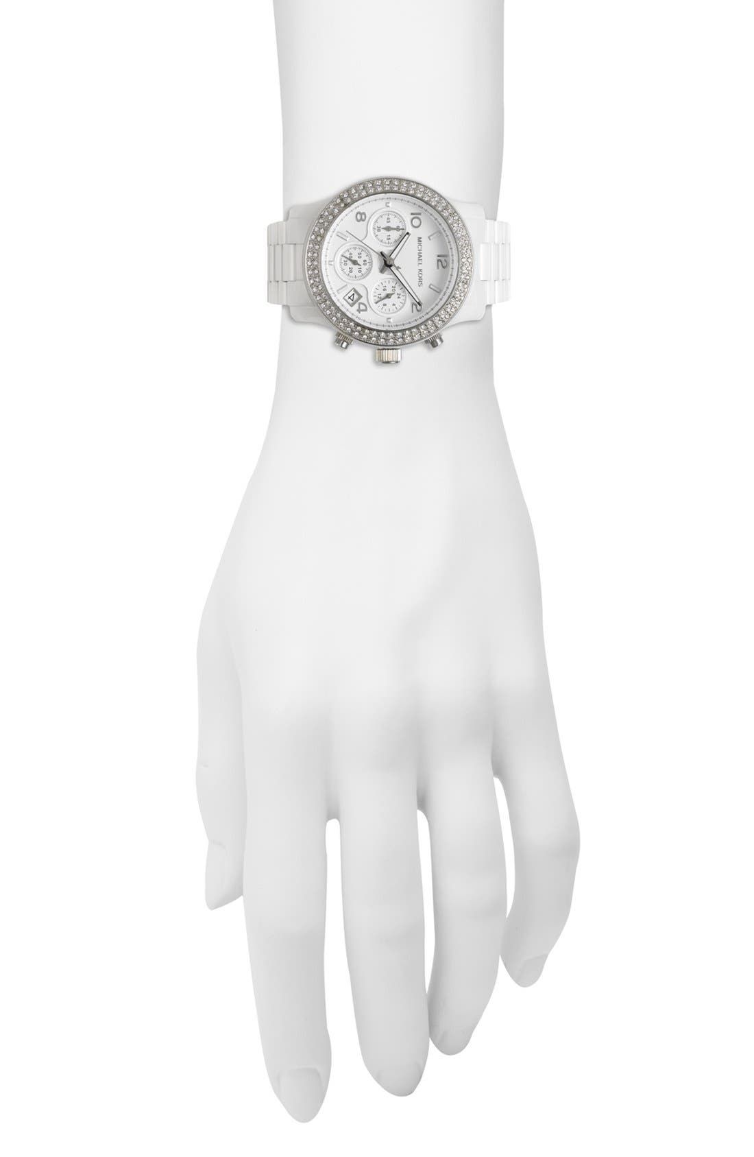 Alternate Image 4  - Michael Kors 'Runway Ceramic' Watch, 40mm