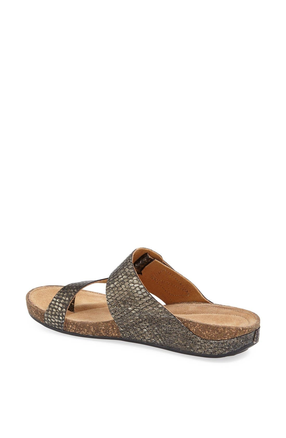 Alternate Image 2  - Clarks® 'Perri Coast' Leather Thong Sandal