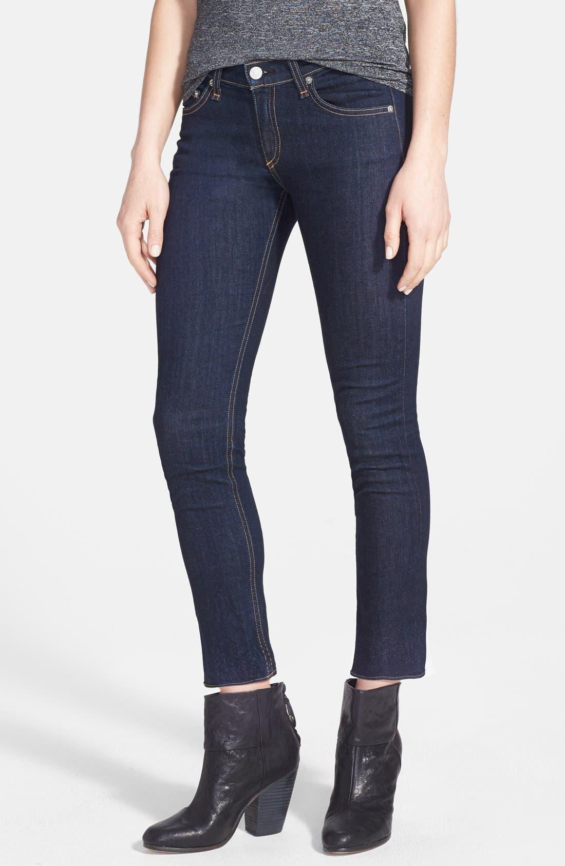 Main Image - rag & bone/JEAN Crop Skinny Jeans (Heritage)