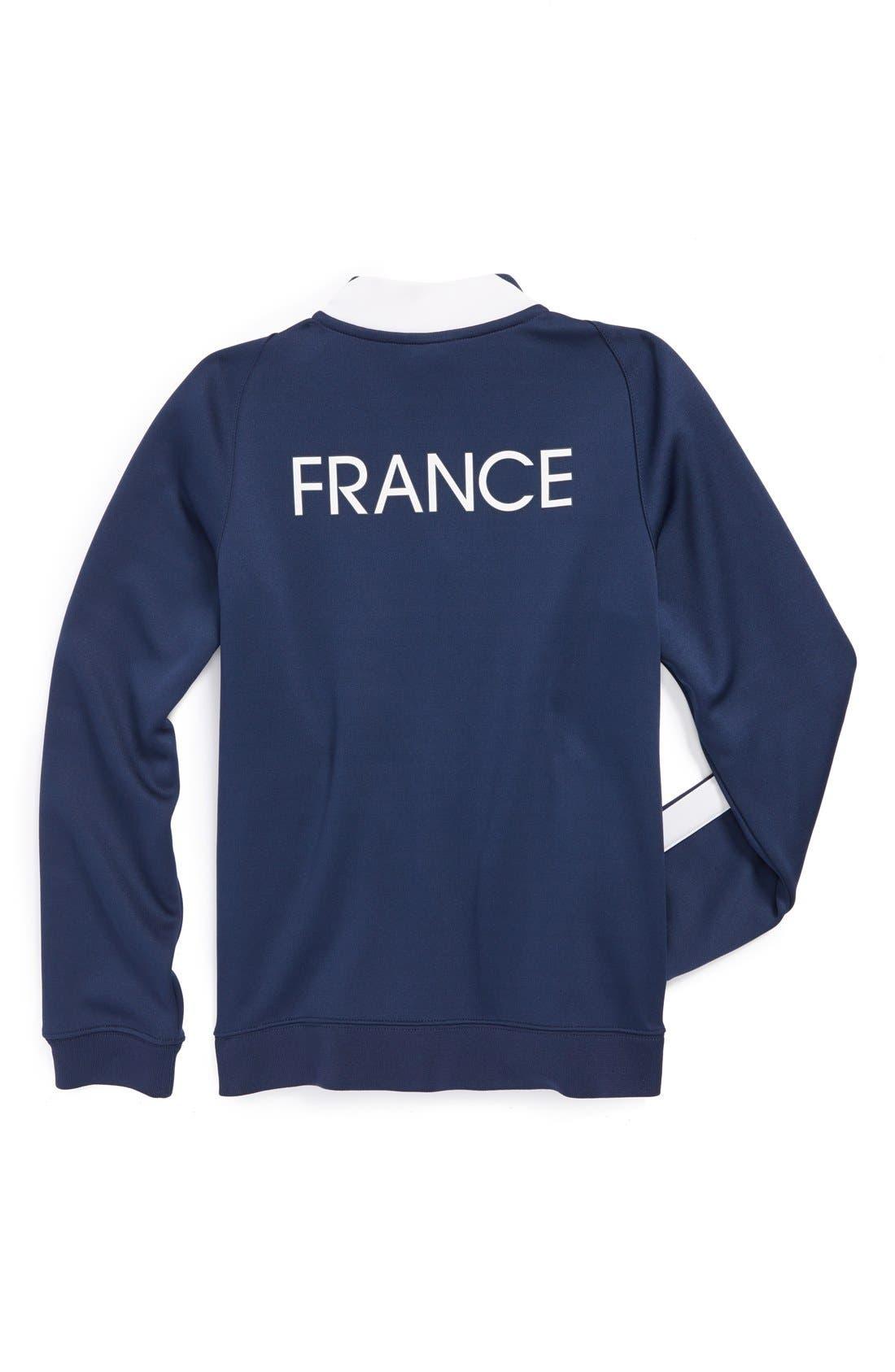 Alternate Image 2  - Nike 'France FFF - N98 World Soccer Authentic' Track Jacket (Big Boys)