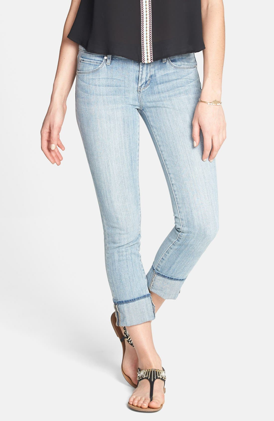 Alternate Image 1 Selected - Articles of Society 'Zoey' Crop Skinny Jeans (Light) (Juniors)