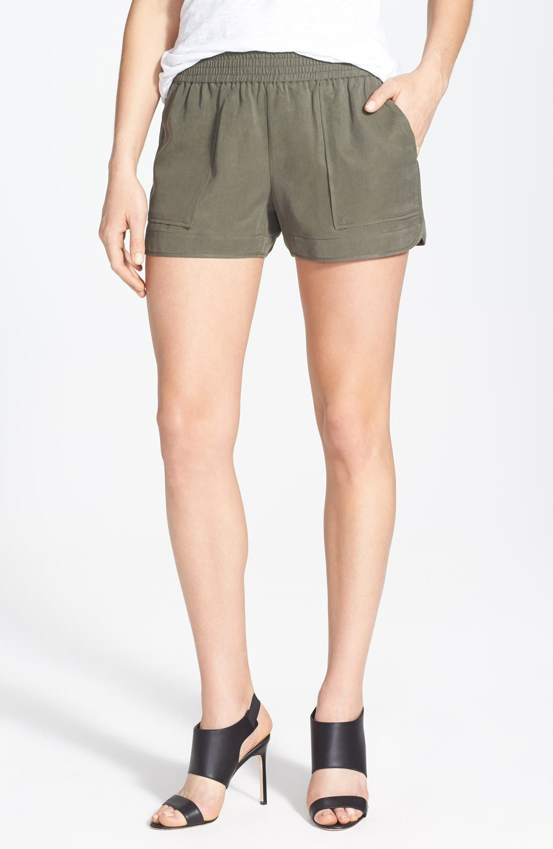 Beso Woven Shorts,                         Main,                         color, Fatigue