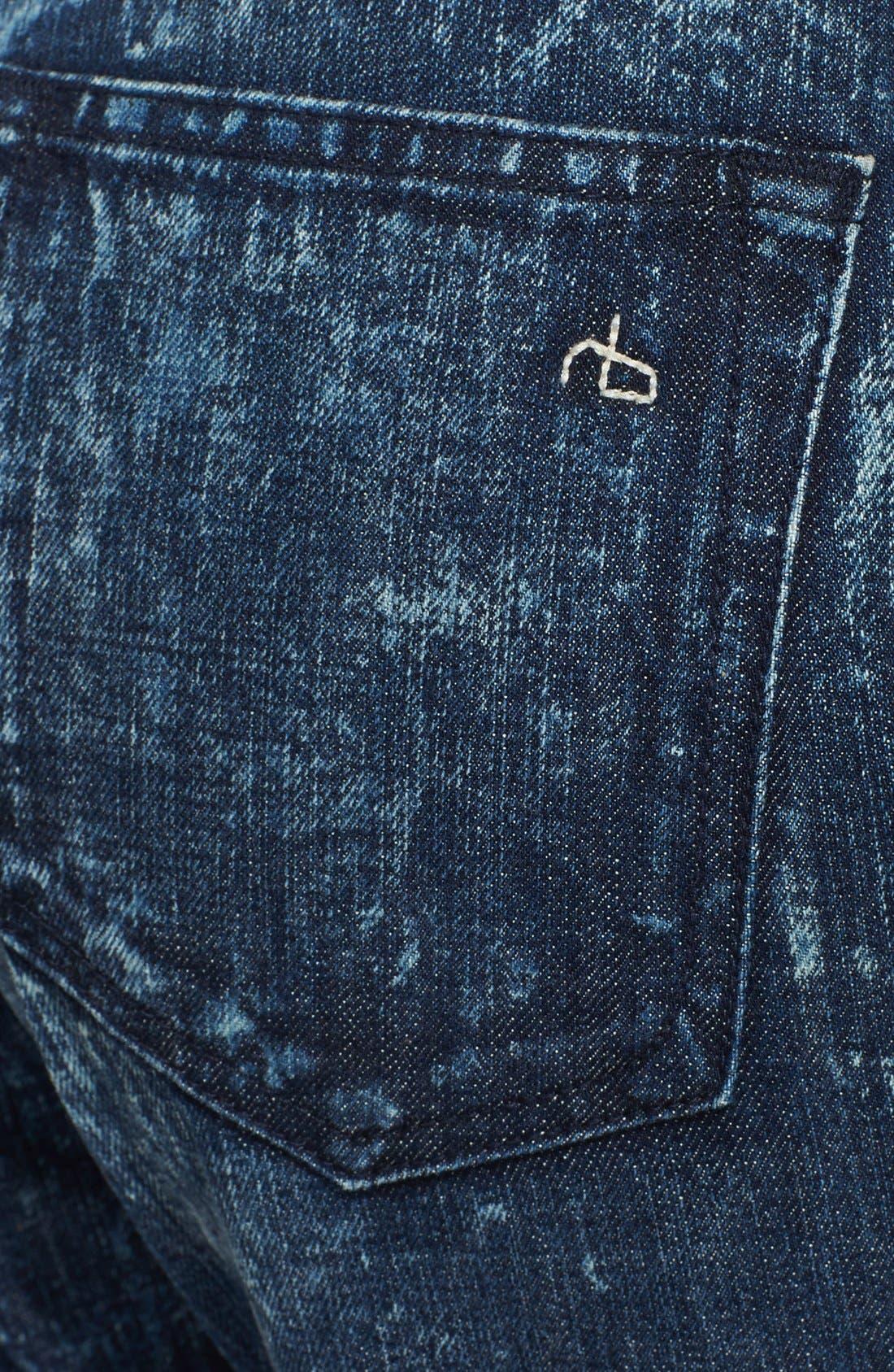 Alternate Image 3  - rag & bone/JEAN 'Marilyn' Crop Jeans (Acid)