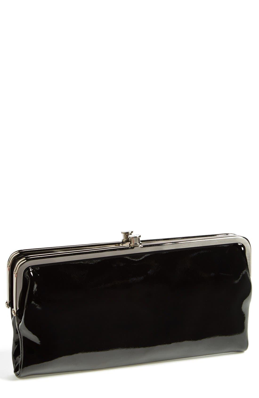 Main Image - Hobo 'Lauren' Double Frame Patent Leather Clutch