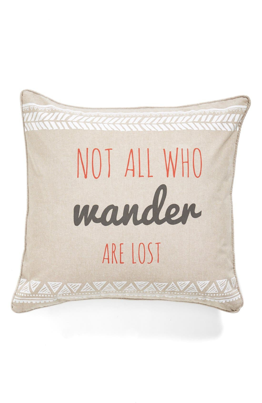 Alternate Image 1 Selected - Levtex 'Not All Who Wander Are Lost' Decorative Pillow