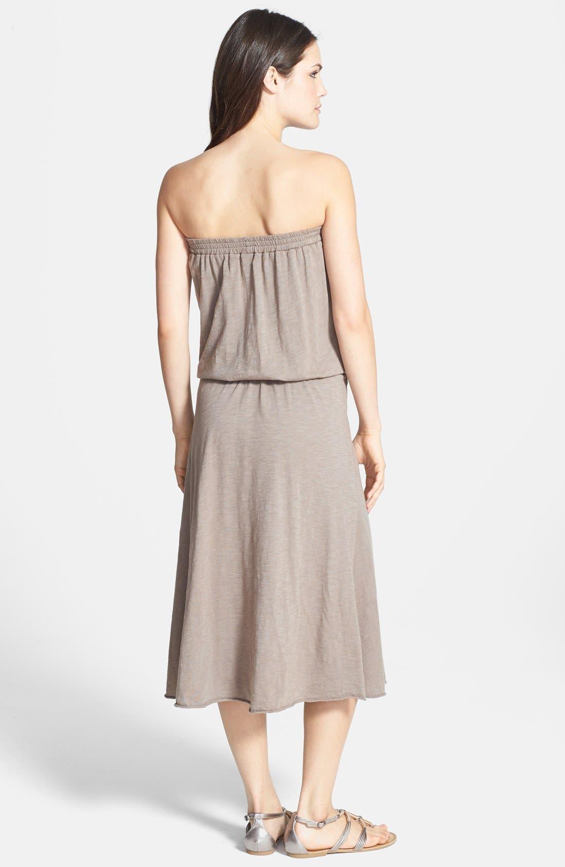 Alternate Image 2  - Allen Allen Strapless Tube Dress