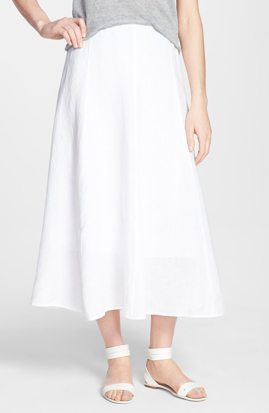 Alternate Image 3  - Eileen Fisher A-Line Linen Skirt (Regular & Petite)