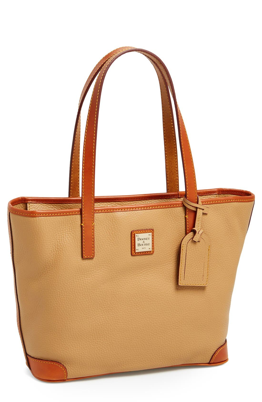 Alternate Image 1 Selected - Dooney & Bourke 'Charleston - Pebble Grain Collection' Water Resistant Tumbled Leather Shopper
