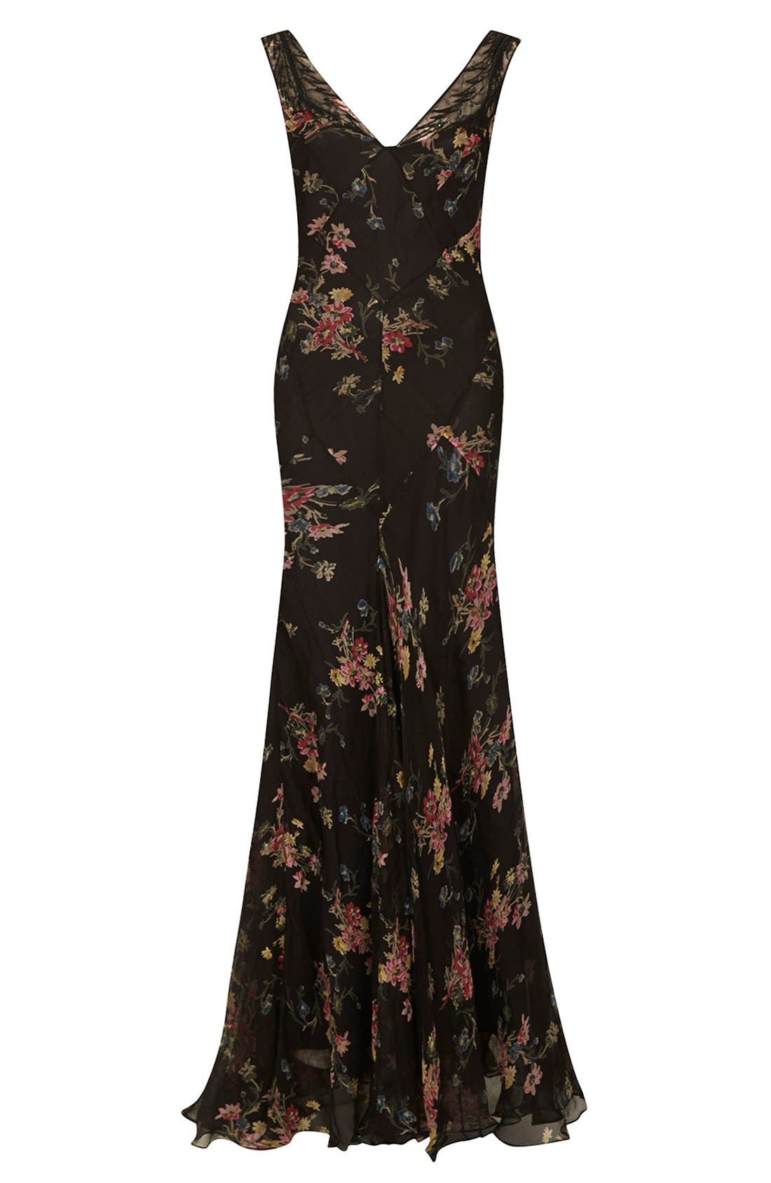 Alternate Image 3  - Kate Moss for Topshop Floral Chiffon Maxi Dress