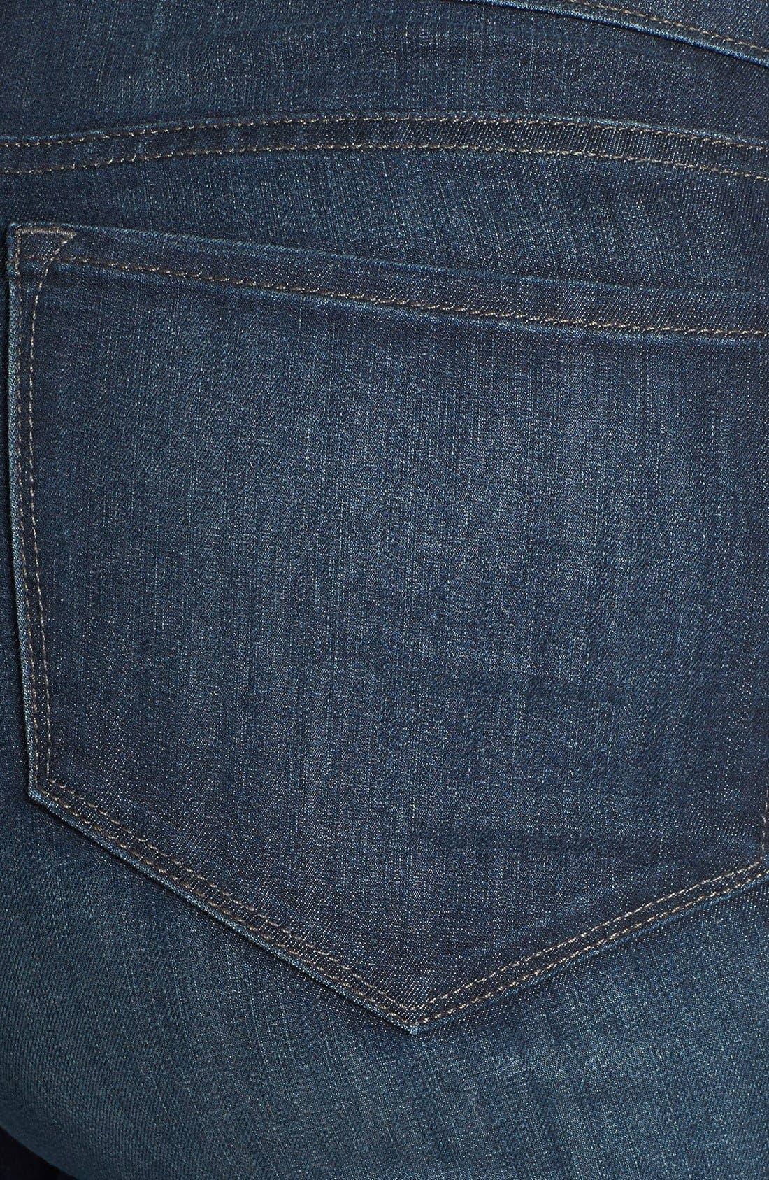 Alternate Image 3  - NYDJ 'Marilyn' Stretch Straight Leg Jeans (Harrington) (Plus Size)