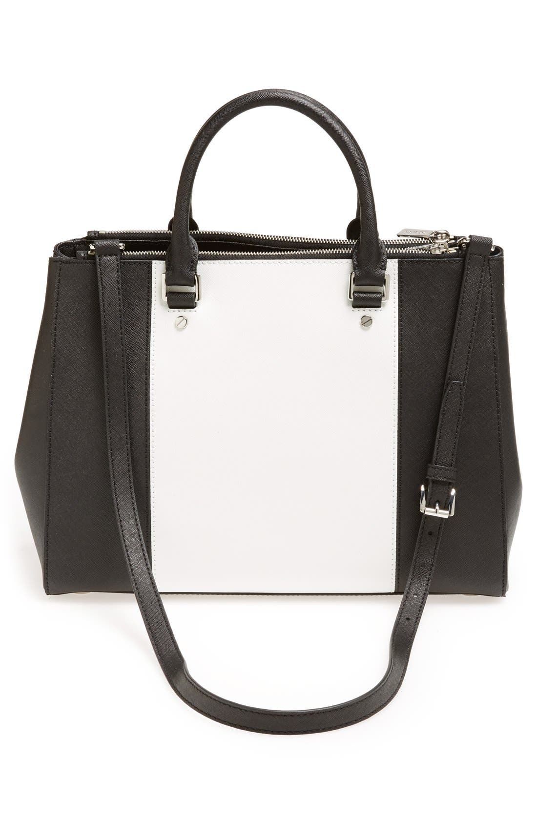Alternate Image 4  - MICHAEL Michael Kors 'Large Sutton Center Stripe' Saffiano Leather Tote