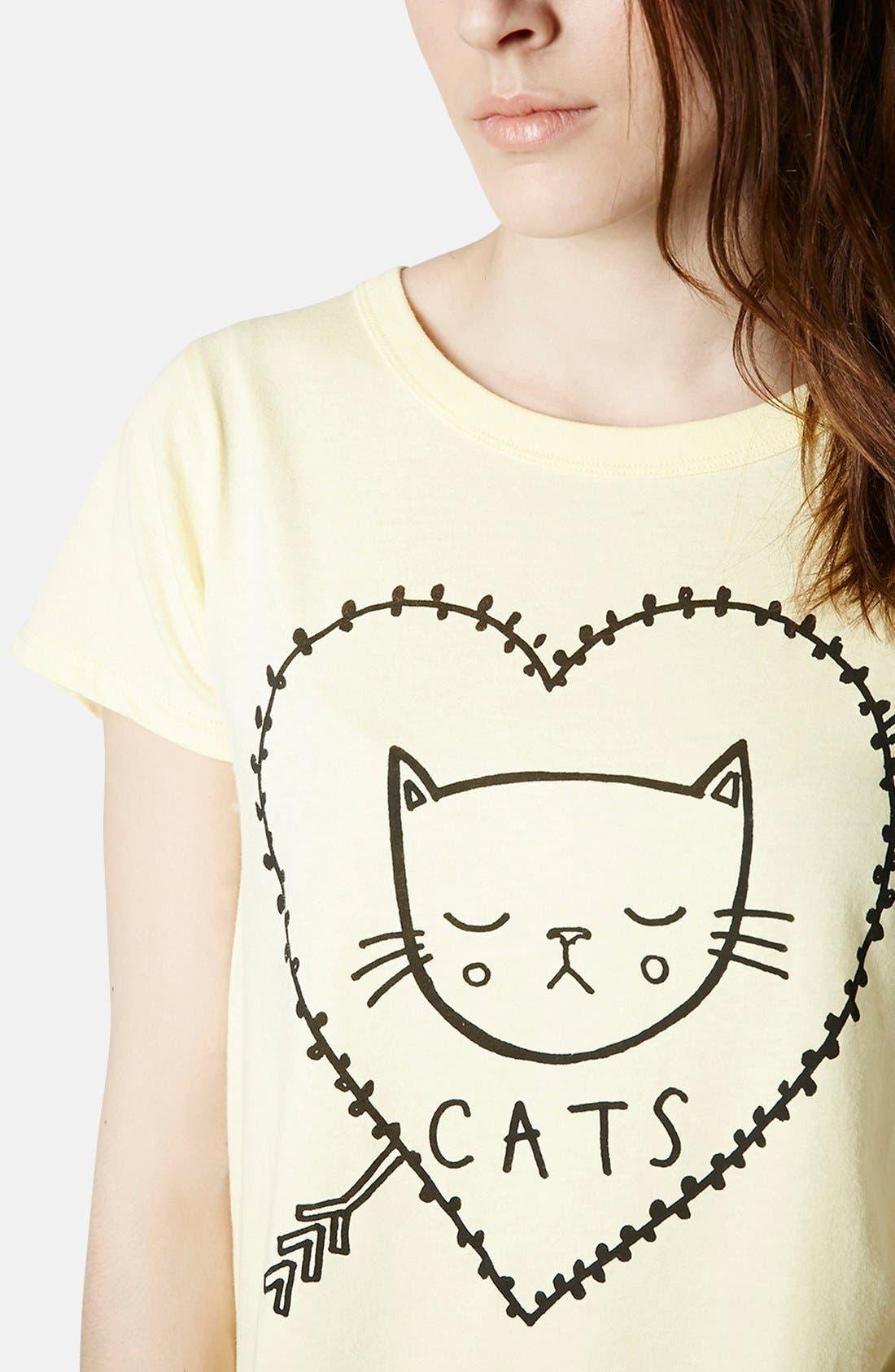 Alternate Image 4  - Topshop 'I Love Cats' Cotton Tee