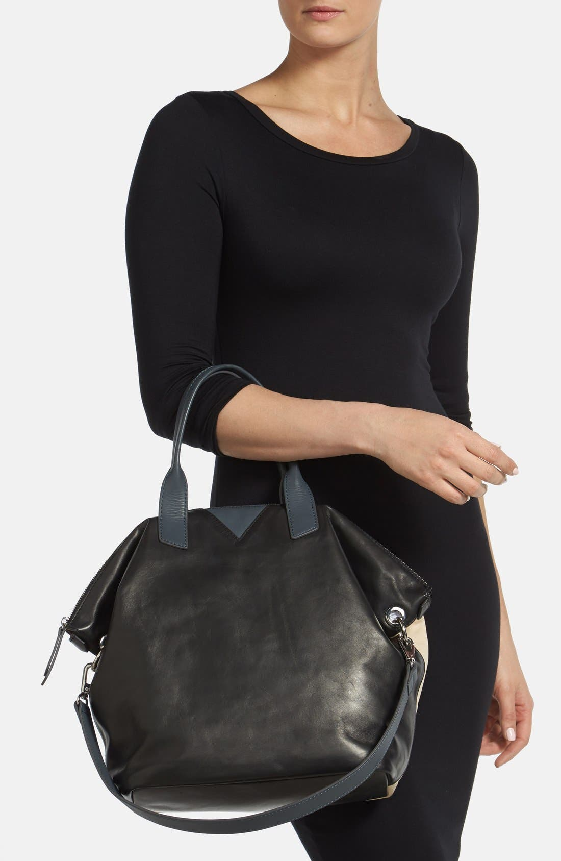 Alternate Image 2  - Sam Edelman 'Sharp Graphic' Leather Satchel