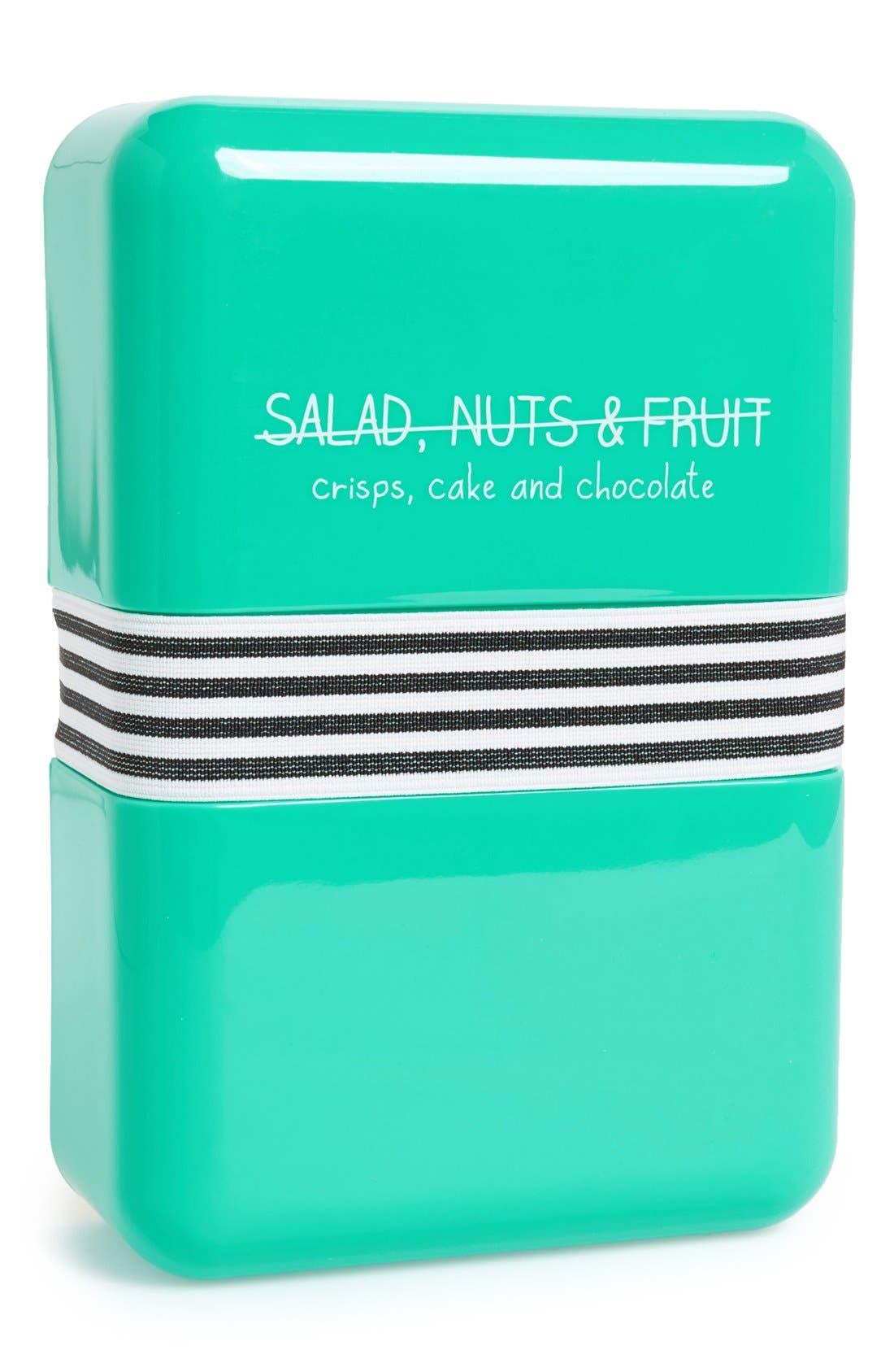 Happy Jackson 'Salad, Nuts & Fruit' Lunch Box,                         Main,                         color, Blue