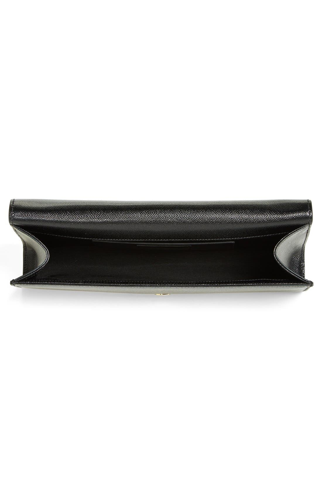 Alternate Image 4  - Saint Laurent 'Monogram' Leather Clutch