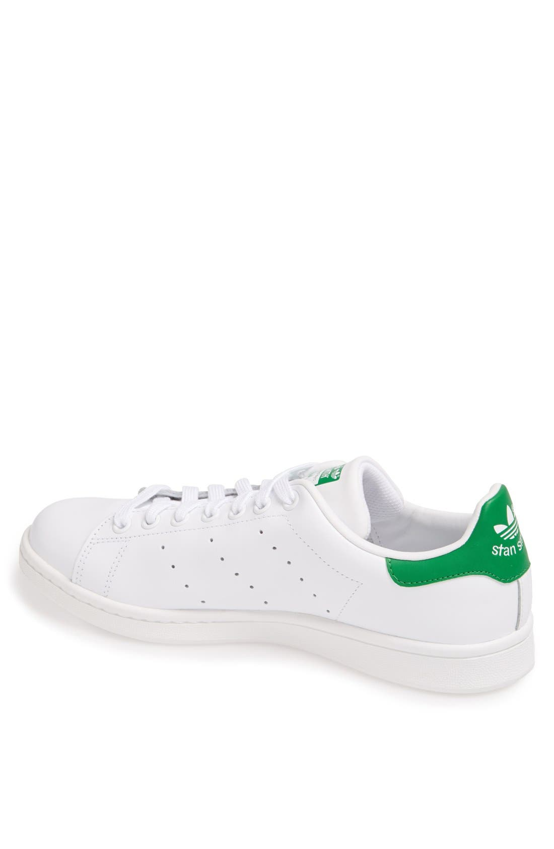 'Stan Smith' Sneaker,                             Alternate thumbnail 2, color,                             Core White/ Green