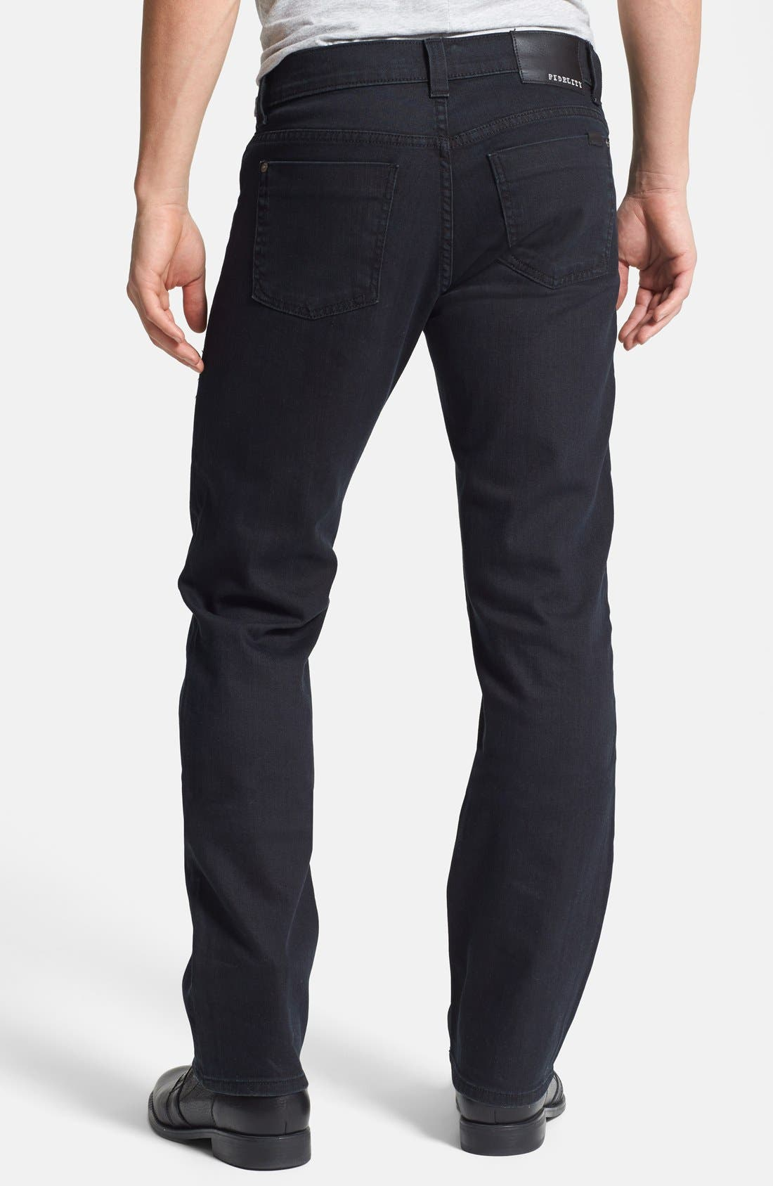 Alternate Image 2  - Fidelity Denim '50-11' Straight Leg Jeans (Town Black Vintage)