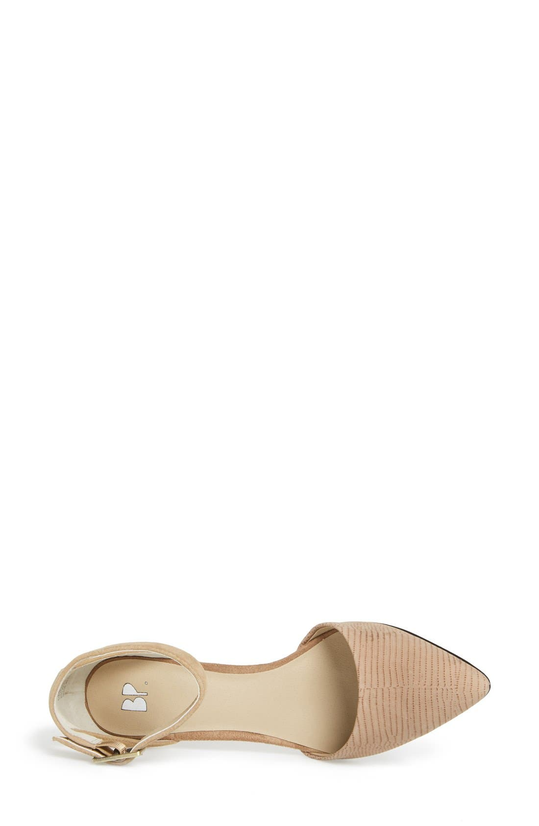 'Mallory' Ankle Strap Pump,                             Alternate thumbnail 3, color,                             Beige/ Nude