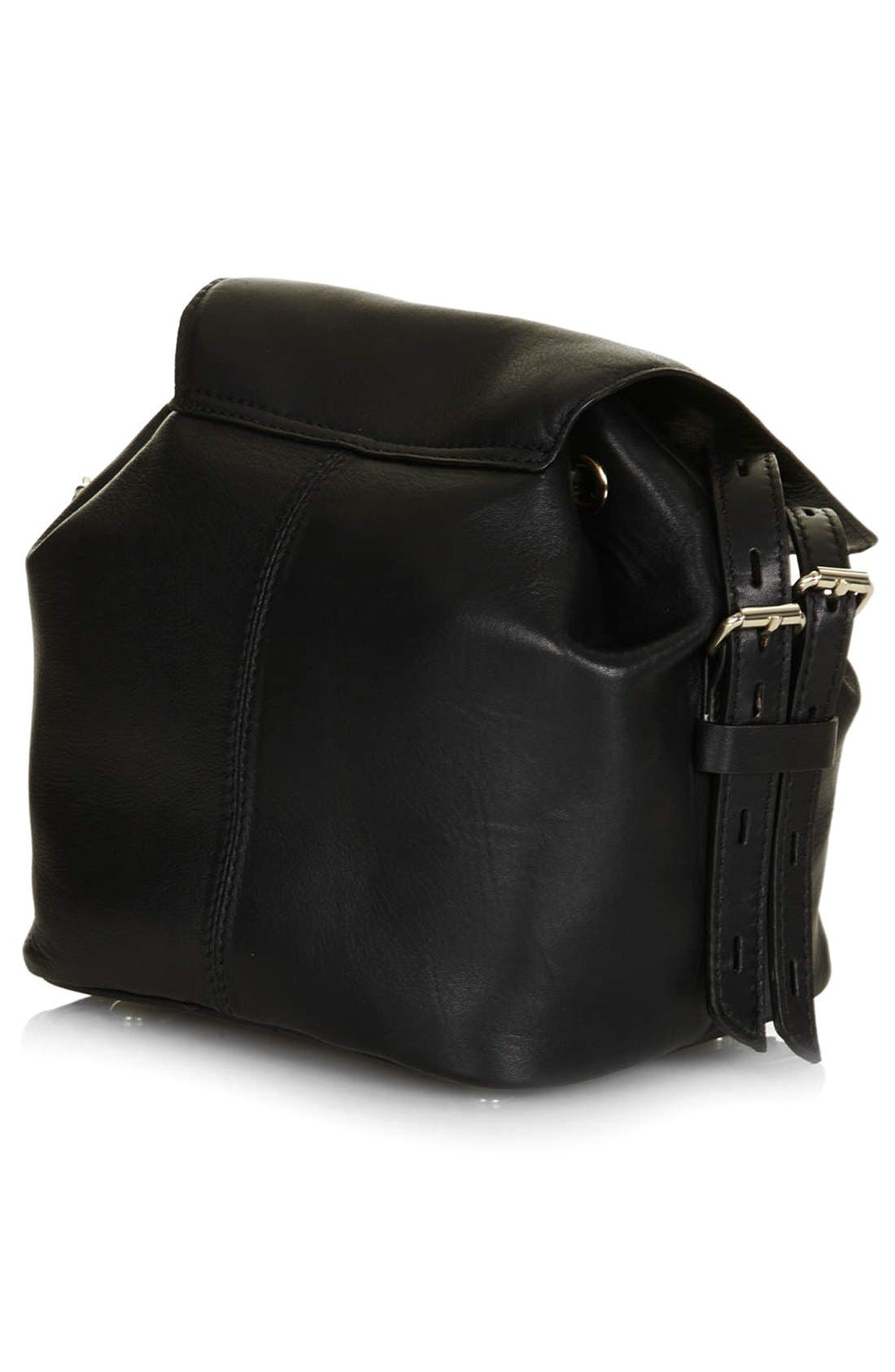 Alternate Image 4  - Topshop Leather Convertible Crossbody Bag