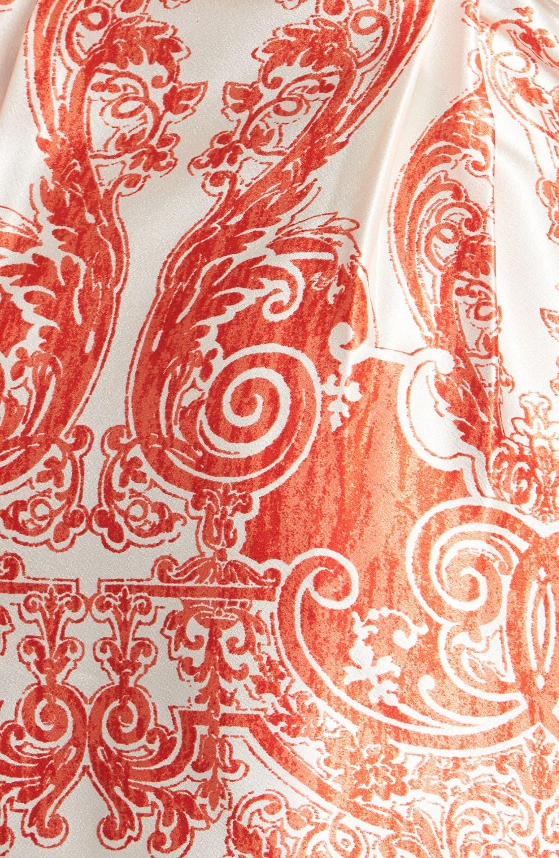 Alternate Image 3  - Oscar de la Renta 'Vintage Trellis' Satin & Georgette Wrap Robe