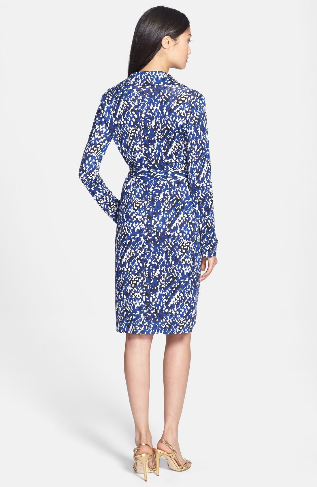 Alternate Image 2  - Diane von Furstenberg 'New Jeanne Two' Print Silk Wrap Dress (Online Only)