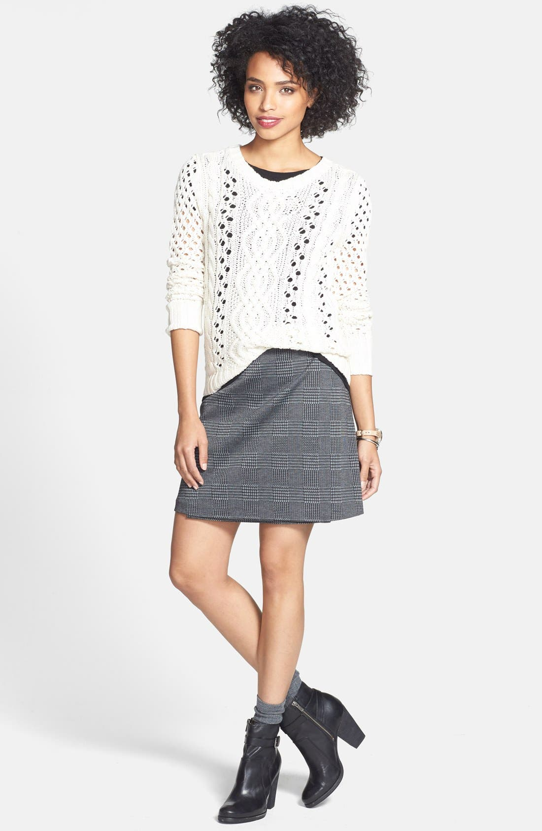 Alternate Image 5  - Vince Camuto Glen Plaid Faux Wrap Miniskirt