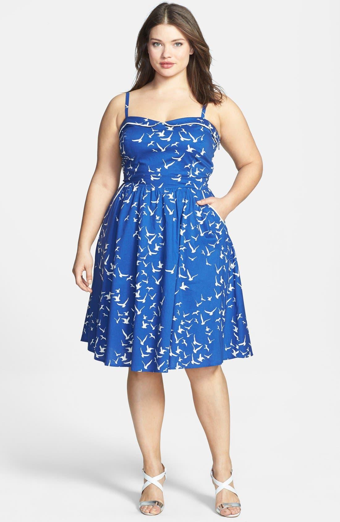 Main Image - City Chic 'Seaside' Fit & Flare Dress (Plus Size)