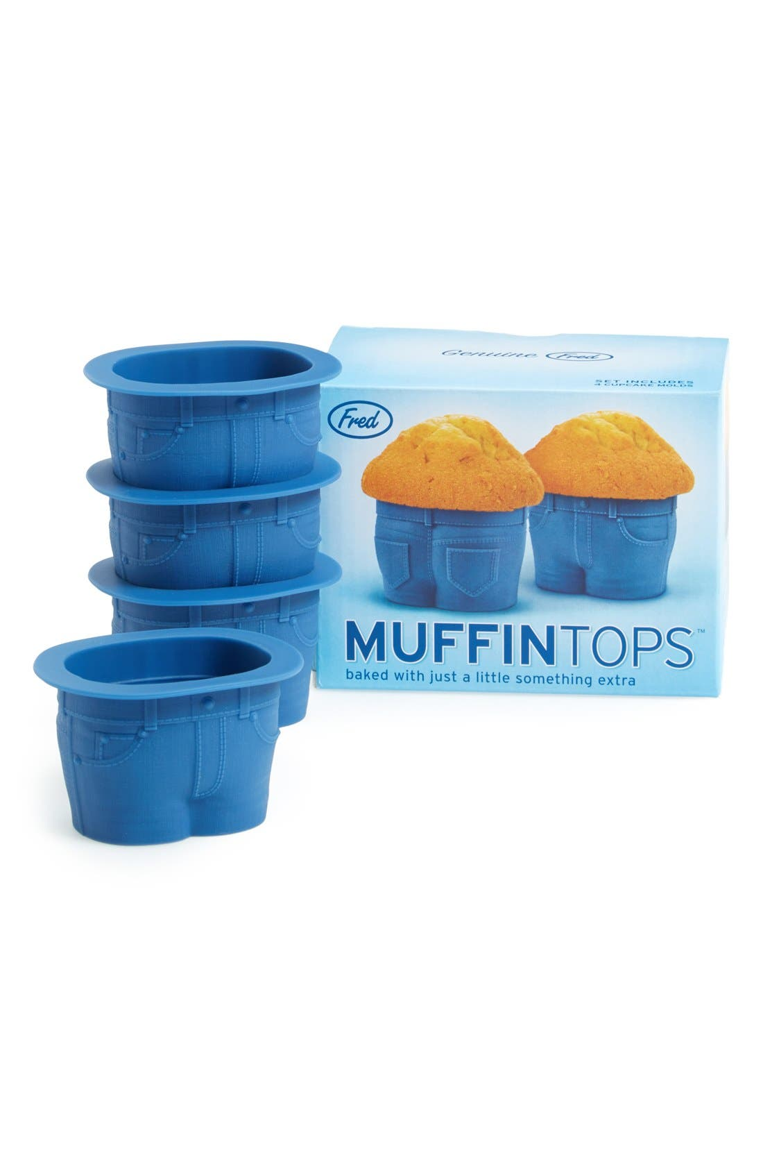 Main Image - Fred & Friends 'Muffin Tops' Baking Cups (Set of 4)