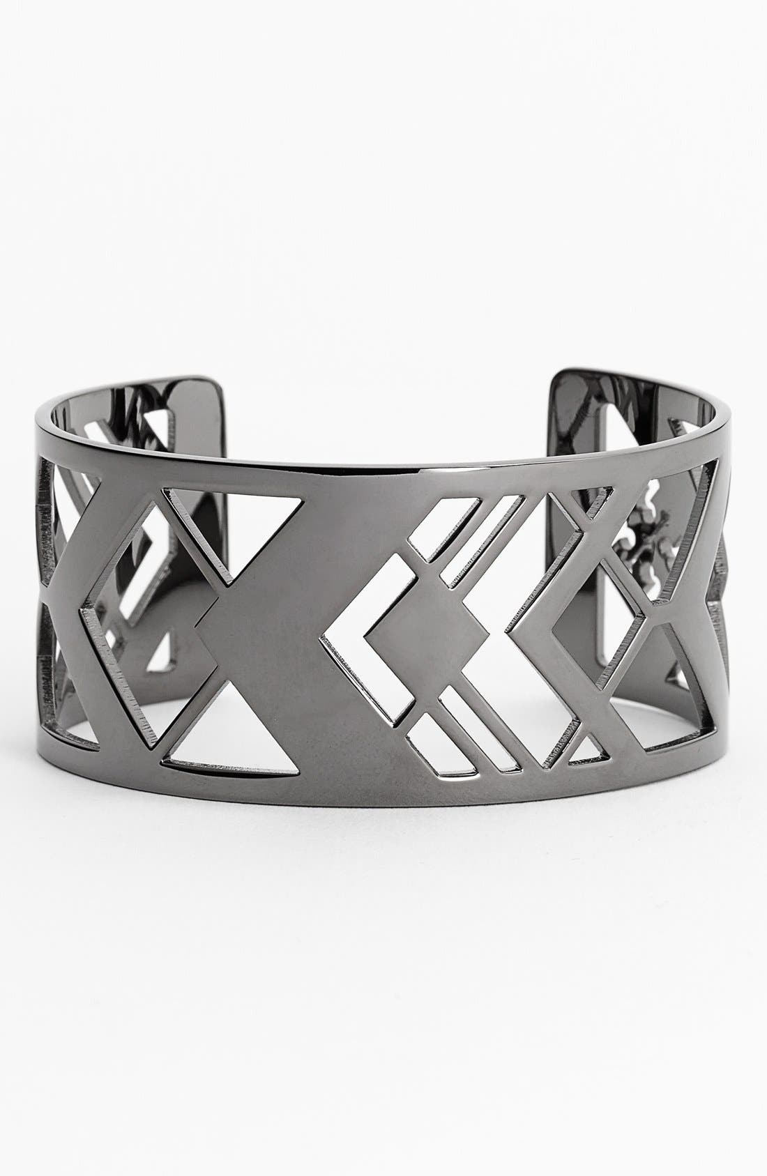 Alternate Image 1 Selected - Tory Burch 'Chevron' Cutout Cuff