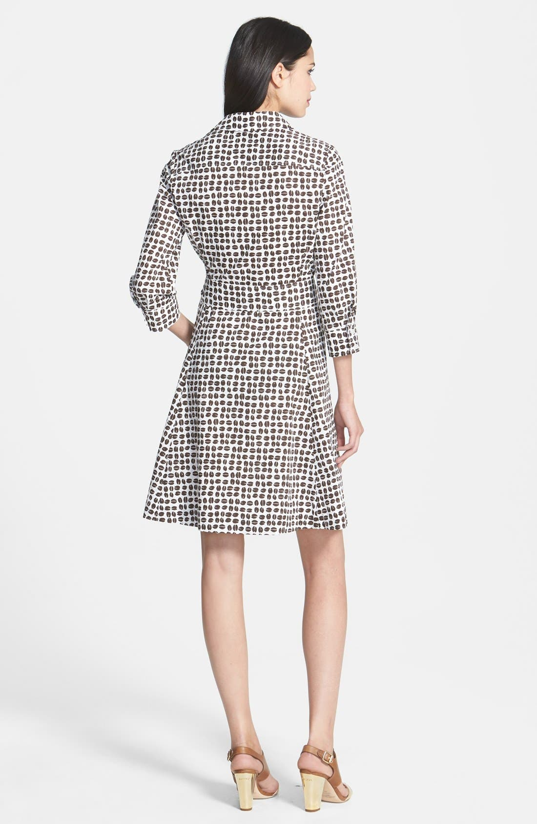 Alternate Image 2  - kate spade new york 'coffee bean' print belted shirtdress