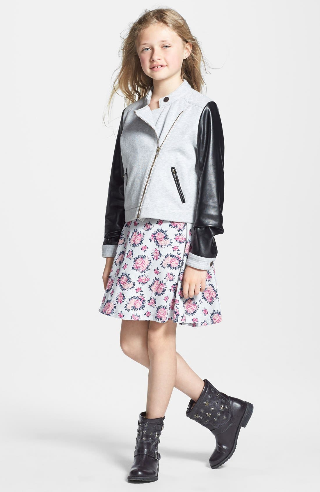 Main Image - Tucker + Tate Floral Print Skater Dress (Big Girls)