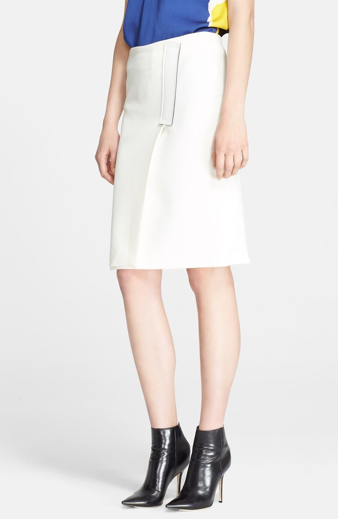 Alternate Image 1 Selected - Cédric Charlier Crepe Wrap Skirt