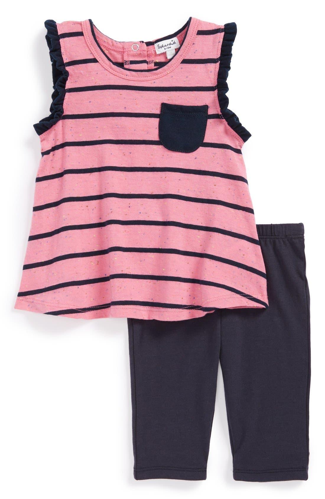 Alternate Image 1 Selected - Splendid Pocket Tunic & Leggings (Baby Girls)