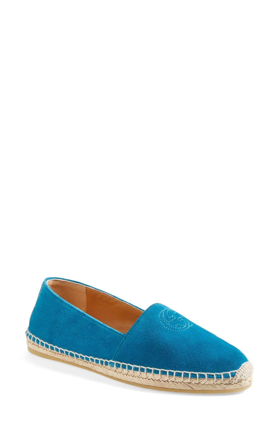 Alternate Image 1 Selected - Gucci 'Pilar' Espadrille Flat (Women)