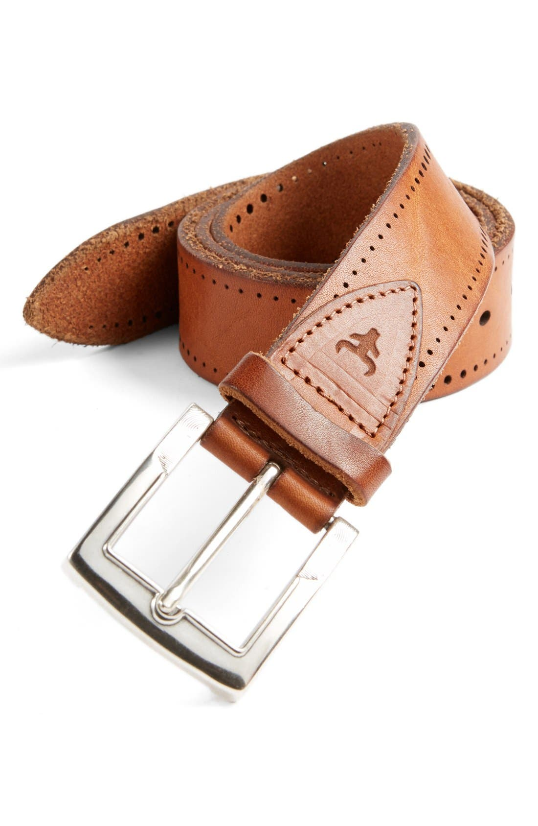 'Cascade' Belt,                             Main thumbnail 1, color,                             Saddle Tan