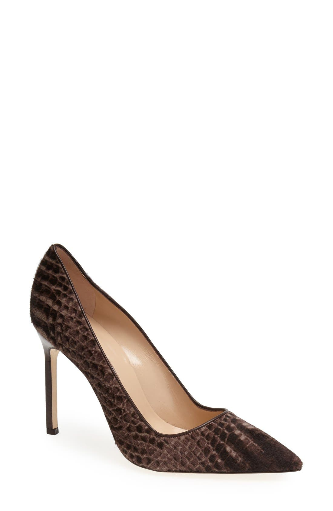 Alternate Image 1 Selected - Manolo Blahnik 'BB' Calf Hair Pump (Women)
