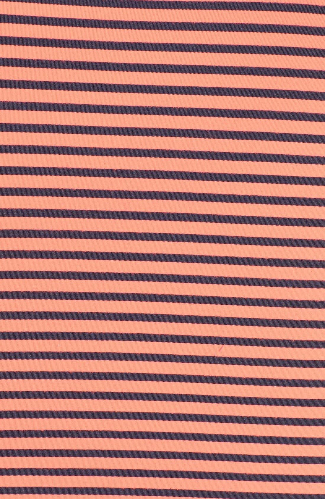 Alternate Image 3  - Zella 'Double Scoop - Ocean Stripe' Tank (Plus Size)