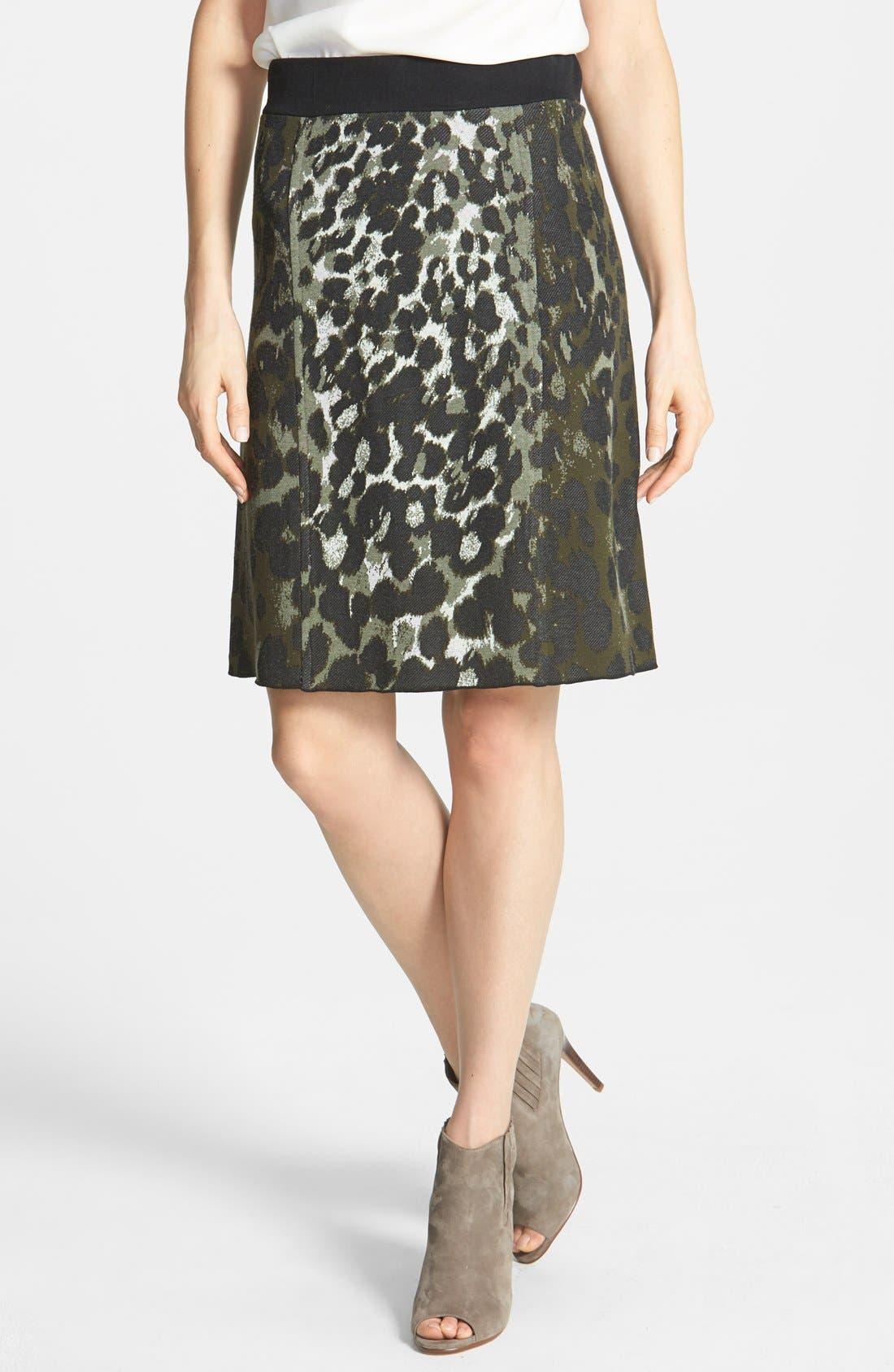 Alternate Image 1 Selected - NIC+ZOE Print Knit Skirt