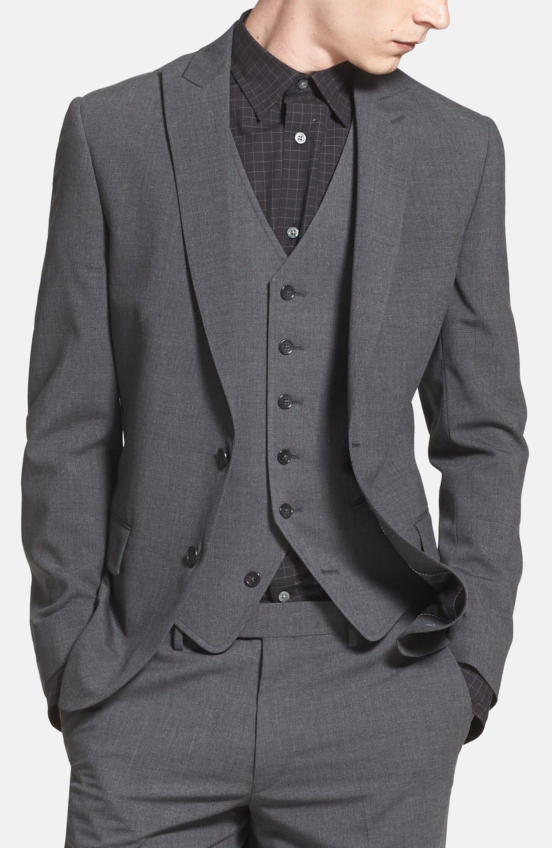 Main Image - John Varvatos Star USA Peak Lapel Blazer