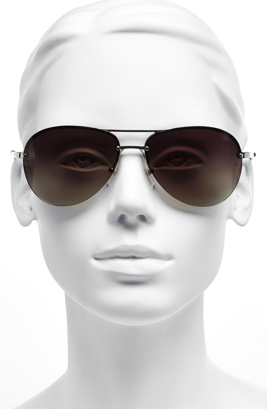Alternate Image 2  - MICHAEL Michael Kors 'Kai' 62mm Aviator Sunglasses
