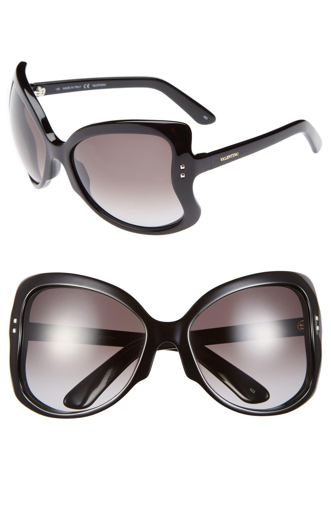 Main Image - Valentino 'Rockstud - Butterfly' 61mm Sunglasses