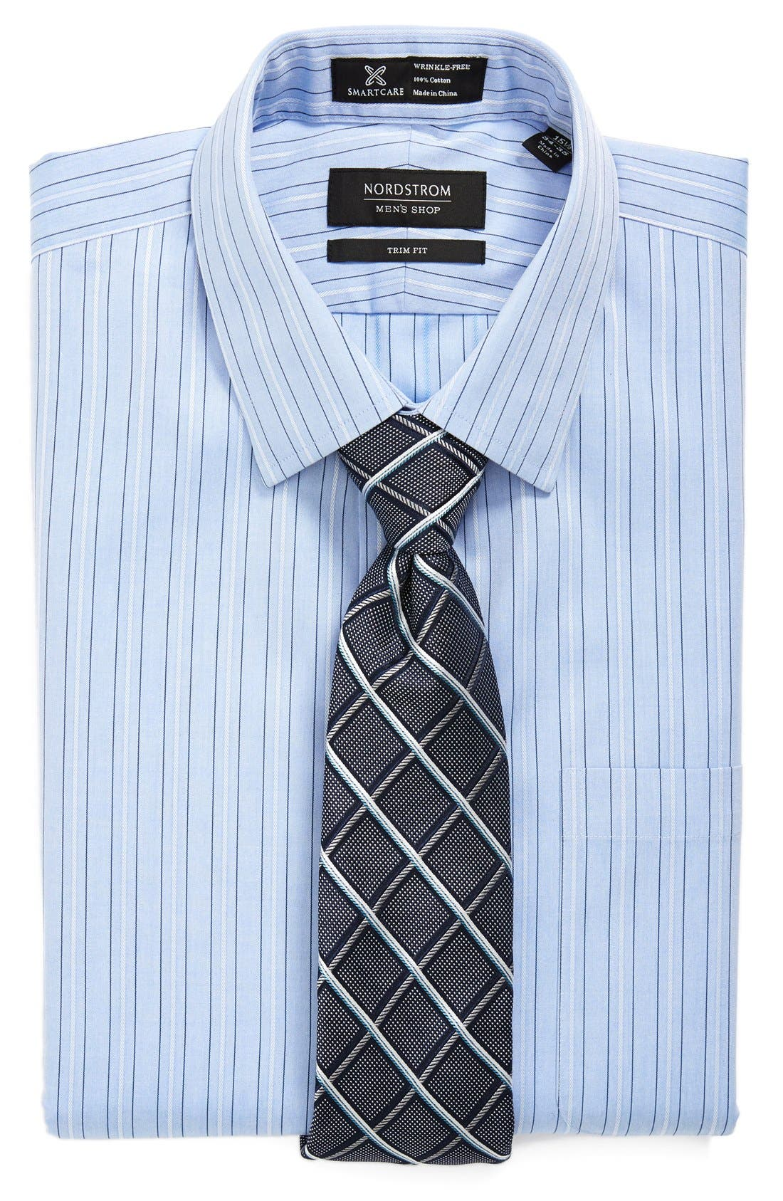 Alternate Image 3  - Nordstrom Smartcare™ Trim Fit Stripe Non-Iron Dress Shirt