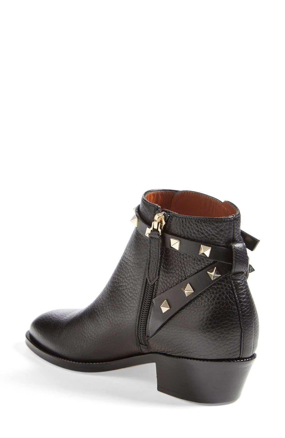 Alternate Image 2  - VALENTINO GARAVANI 'Rockstud' Ankle Boot (Women)