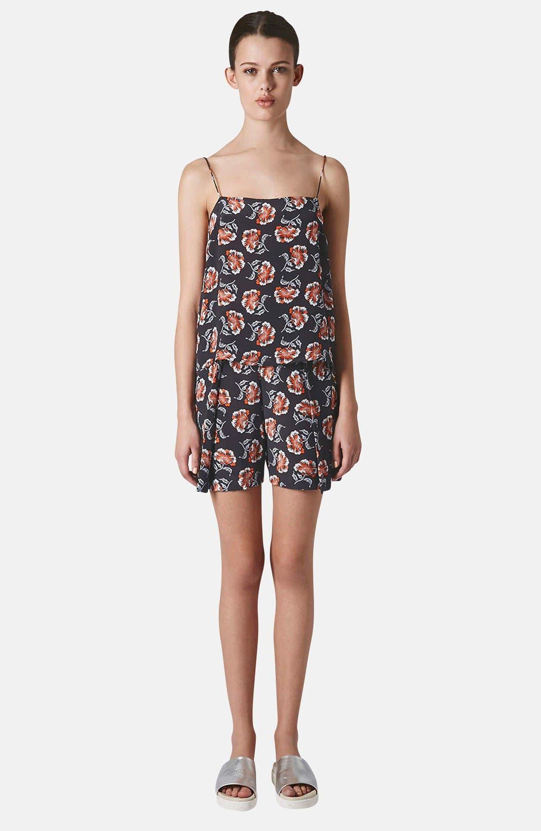 Alternate Image 5  - Topshop Boutique Floral Print Silk Camisole